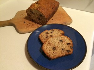Toasted Coconut Banana Bread with Chocolate Chips