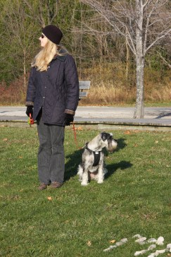 November 11 Julie and Lucy at the waterfront park in Goderich