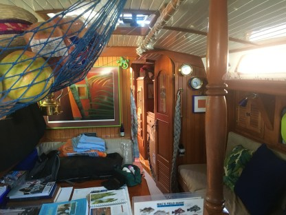 April 23 Interior of S/V Due West, a Passport 40