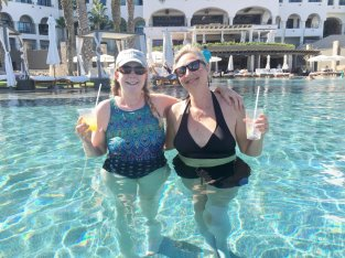 April 24 Swim-up bar at the Hilton Los Cabos
