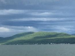 July 8 Heading across Batchawana Bay to the Gitchee Gumee Marina