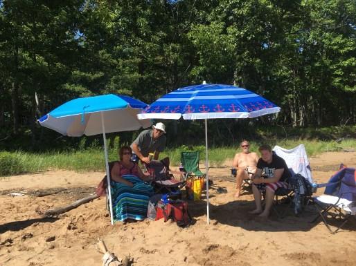 July 23 Beach time on Batchawana Island