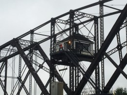 July 24 Bridge tender before the Canadian lock