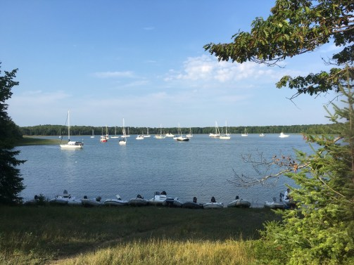 Dinghy convention at the GLCC Wilderness Rally