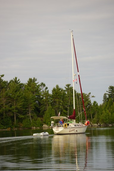August 14 Giverney (from Grand Marais, MN) leaving Turnbull Island