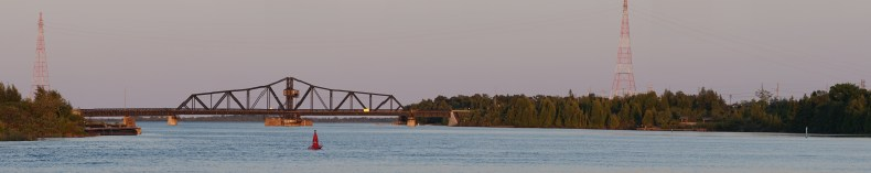 August 23 Little Current swing bridge