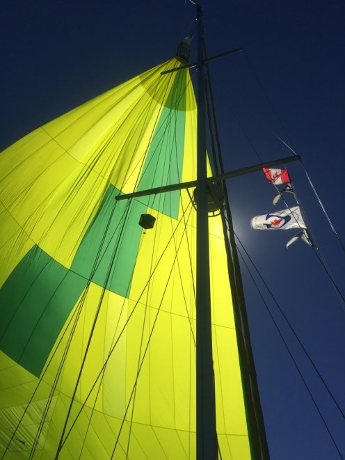 September 20 Flying the chute as we head to Goderich