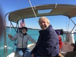 October 14 Mike Gozzard sailing on Gaviidae