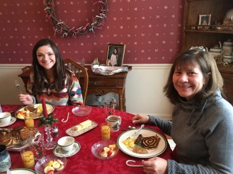 December 29 Enjoying breakfast with Chelsea and Jill