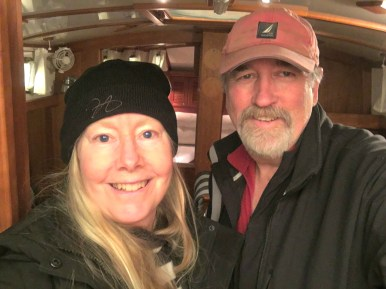 April 7 First selfie on our new Gozzard 41