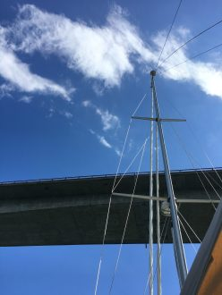 June 1 Going under the Jamestown Bridge