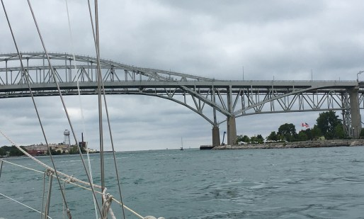 July 17 Heading under the Bluewater Bridge - Sarnia ON