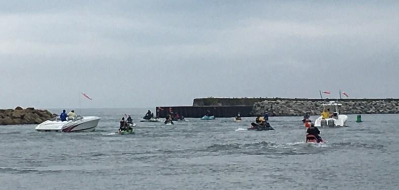 July 27 Water Warriors leaving Harbor Beach