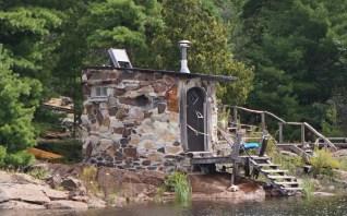 Sauna along the shoreline in McGregor Bay