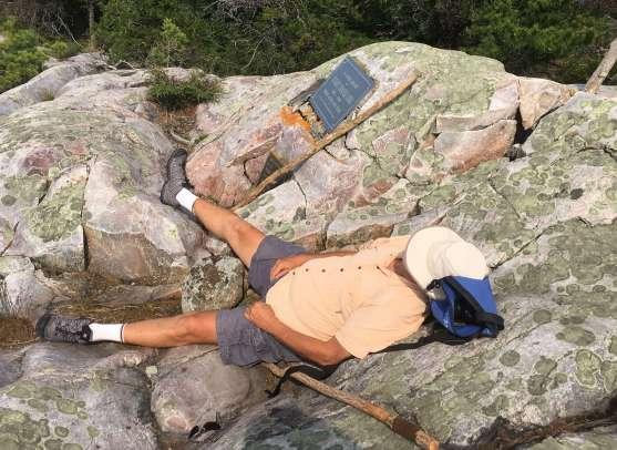 Siesta at the top of the Peak