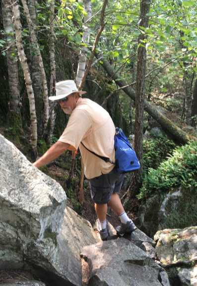 August 21 Scrambling up Casson Peak - Baie Finn