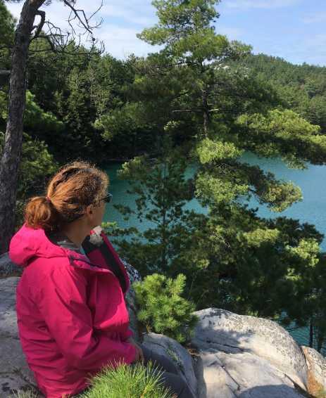 Debbie at Topaz Lake