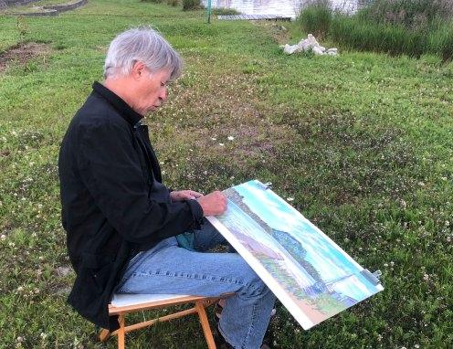 July 30 Artist Sketching in Rossport