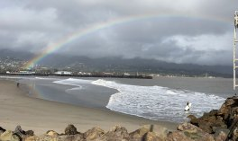 Feb 2 Rainbow over Santa Barbara