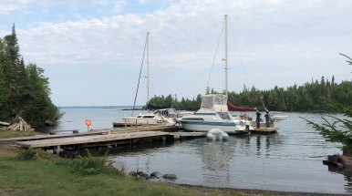 Aug 14 The docks at Porphyry