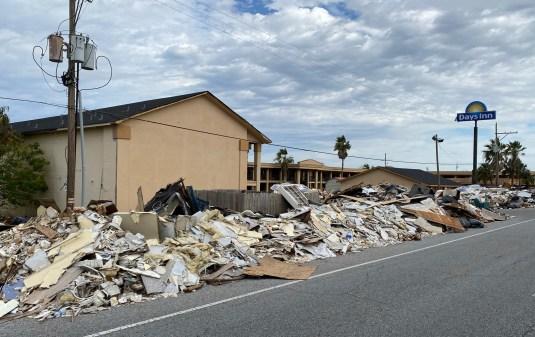 Dec 11 Hurricane destruction in Lake Charles, Louisiana