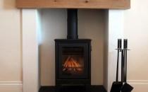 Fireplace with Log-burning Stove