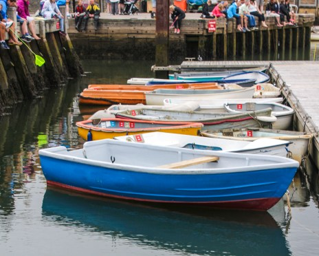 Boats in the harbour at Lymington
