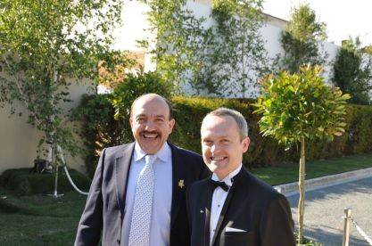 Lucky enough to have shared a taxi with Gerard Basset MW OBE and David Biraud of Mandarin Hotels.