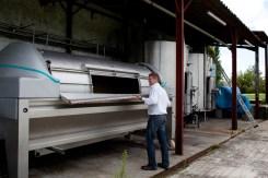 The 5000 litre pneumatic press.