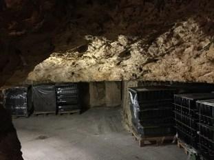 We took the wine to some underground cellars 5 miles away