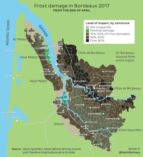 Bordeaux map frost 2017