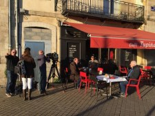 Breakfast in Bordeaux, on the quais near La Tupina.