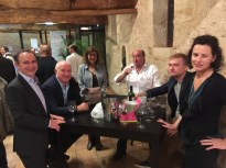 At the prizegiving after judging the wines of the Graves.