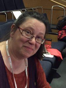 Petra Modée från Nordanstig, var flitig skribent för kongressdelegationen.