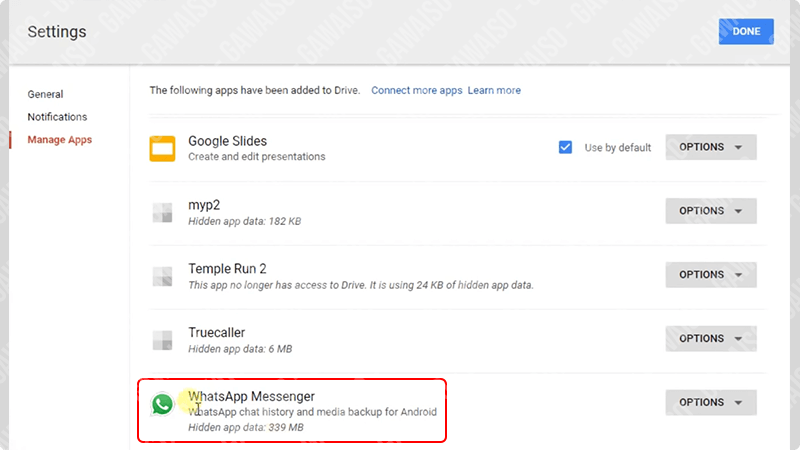 cara melihat backup chat whatsapp di google drive pc