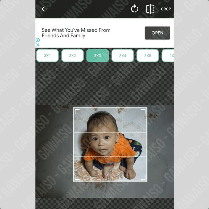 split foto untuk feed instagram
