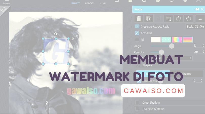 cara membuat dan menambahkan watermark teks dan logo di foto dengan photoshop, photoscape, canva, pixlr, dan picsart