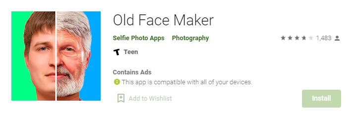 aplikasi wajah tua old face maker
