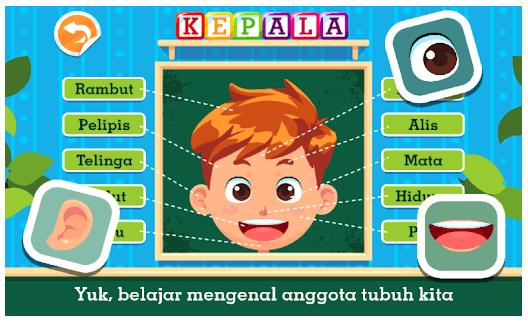 game edukasi anak mengenal bagian tubuh