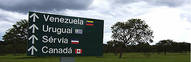 Funny Signs: Directions to countries, Brazil