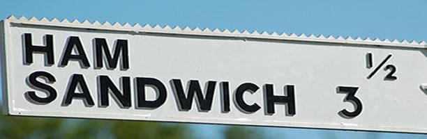 Funny Signs: Ham Sandwich Street, England