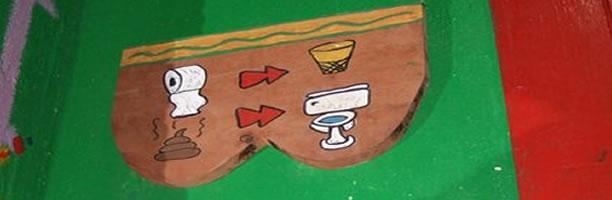 Funny Signs: Bathroom Instructions, Guatemla