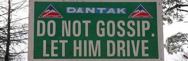 Funny Signs: No Gossip Sign, India