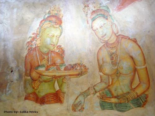 5th Century BC Paintings of Sigiriya, Sri Lanka