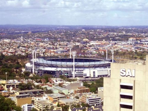 Amazing Views: Melbourne Cricket Ground from 35th Floor of Sofitel Hotel