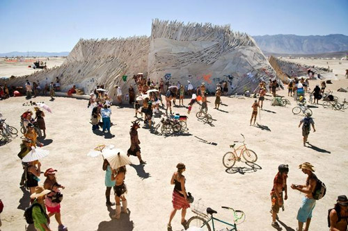 Festivals Around The World - People Attending Burning Man Festival   (c) Photo By Perthnow