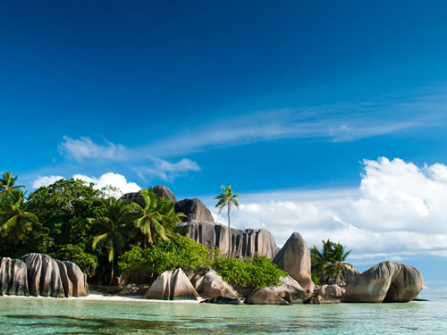 Tropical Vacation Destinations: Seychelles Beach Landscape