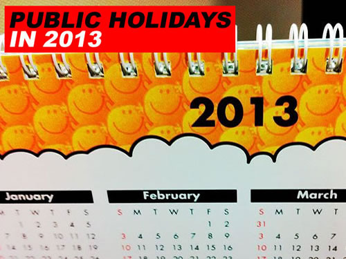 Important Public Holidays 2013 In The USA