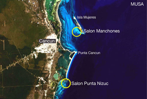 Cancun Underwater Museum Map