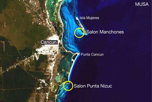Cancun Underwater Museum Map